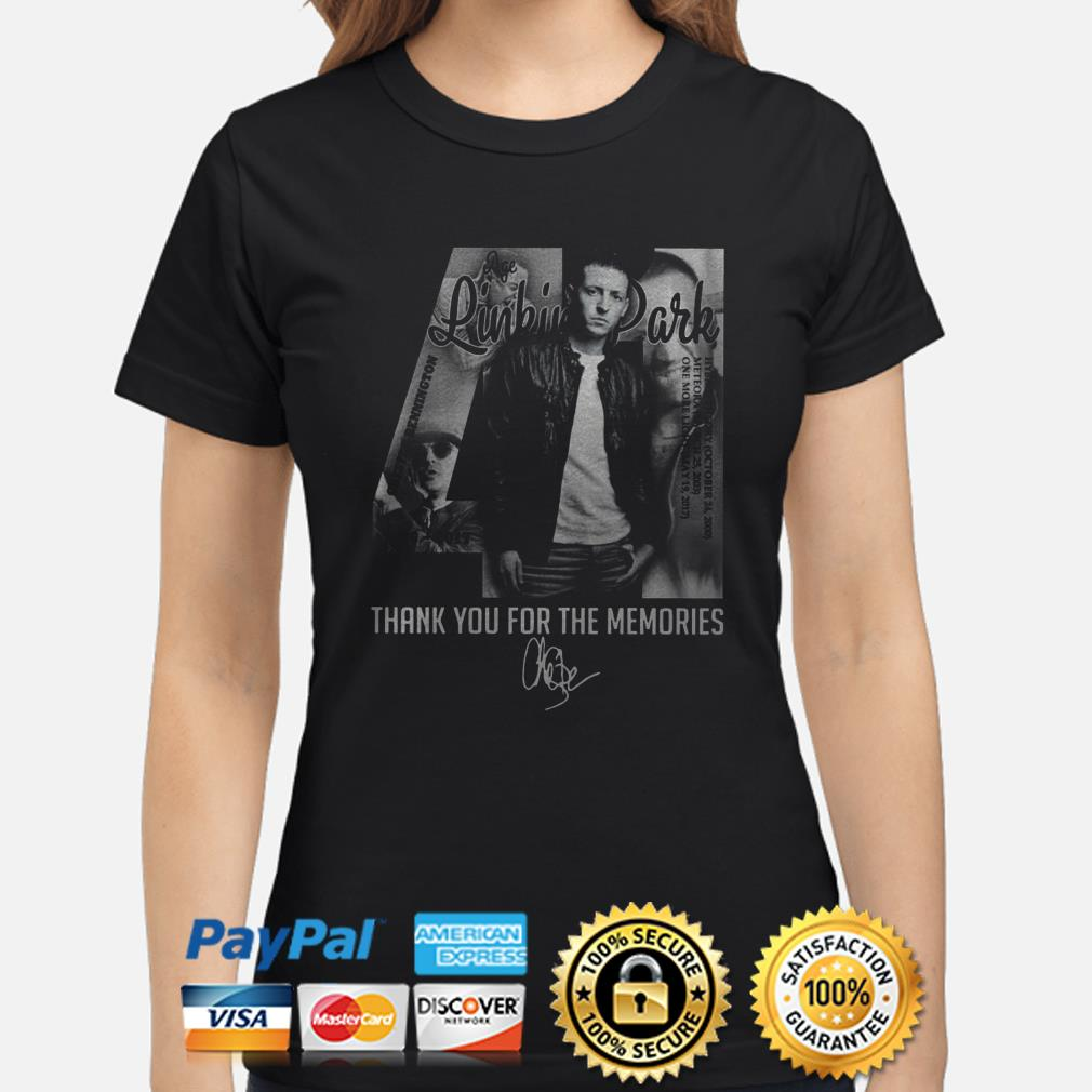 Chester Bennington Linkin Park 41 thank you for the memories ladies shirt