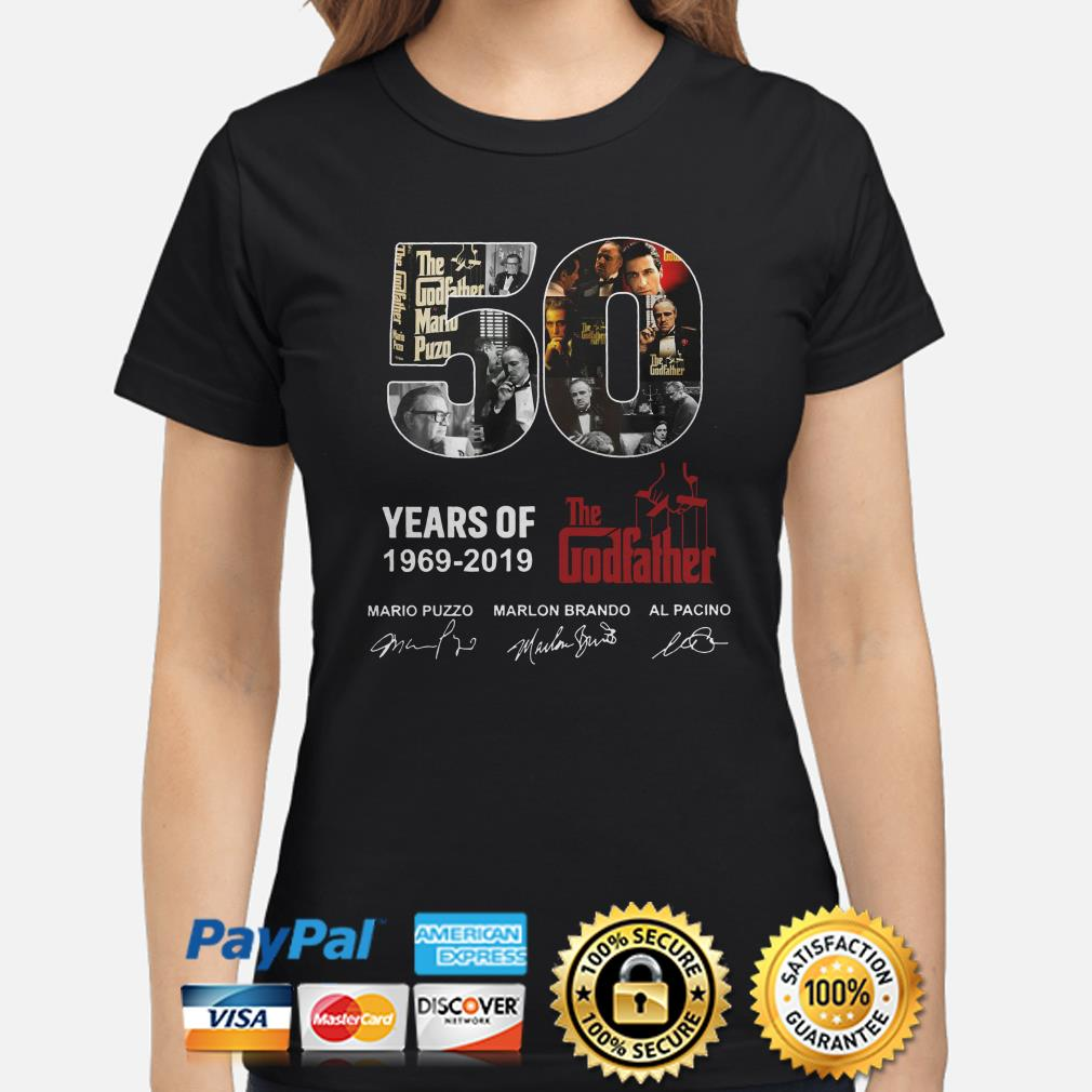 50 years of the Godfather 1969 2019 signatures ladies shirt