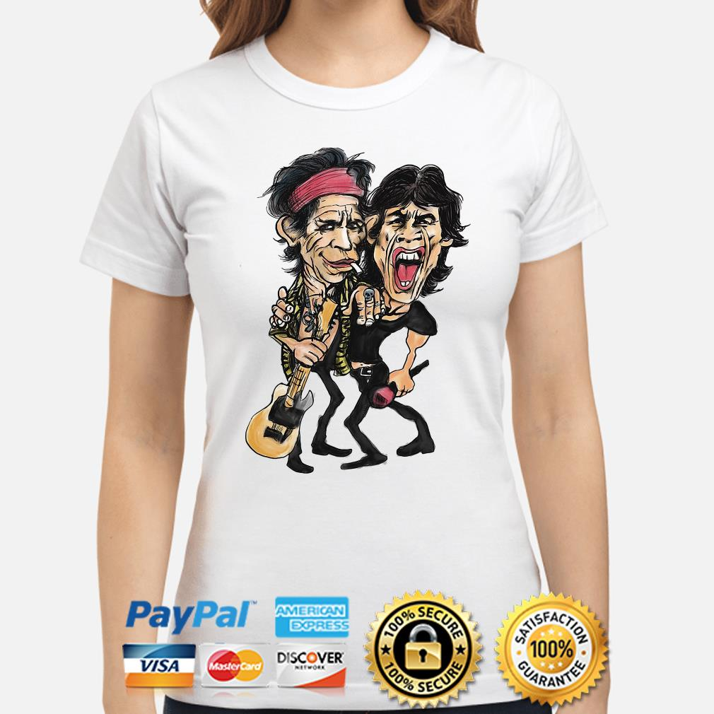 The Rolling Stone Ronnie Wood and Keith Richards ladies shirt
