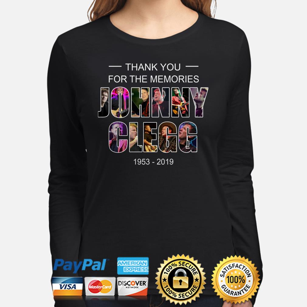 Thank you for the memories Johnny Clegg 1953-2019 long sleeve