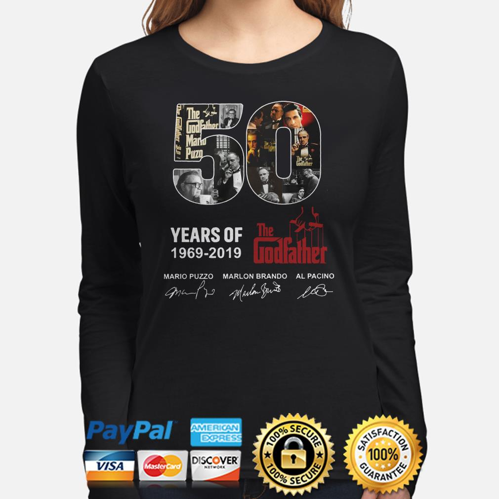50 years of the Godfather 1969 2019 signatures long sleeve