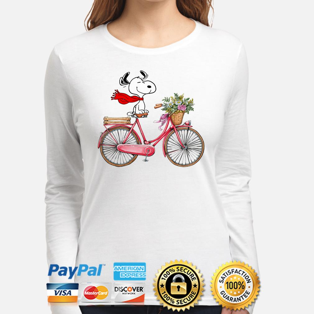 Snoopy riding bicycle long sleeve
