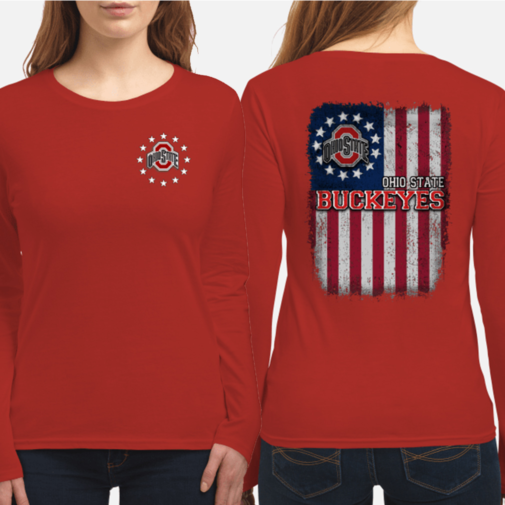 Ohio State Buckeyes Betsy Ross flag long sleeve