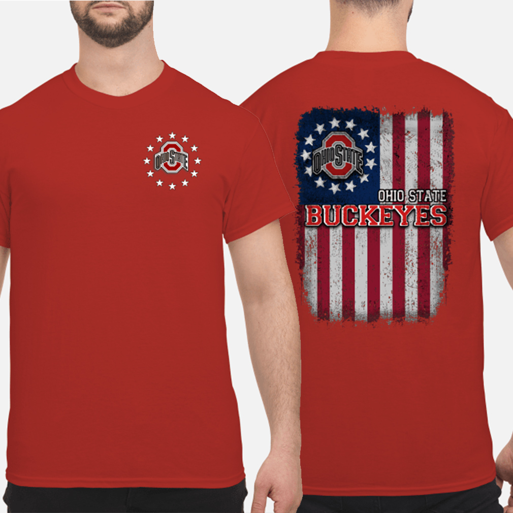 Ohio State Buckeyes Betsy Ross flag shirt