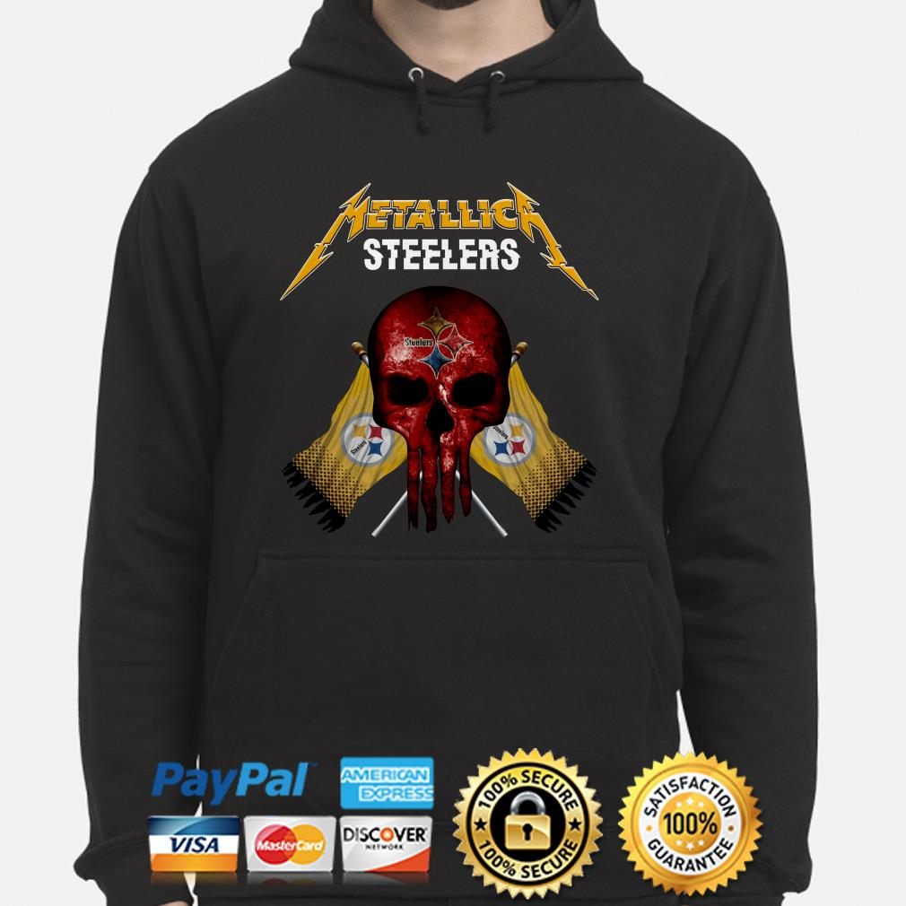 Pittsburgh Steelers Metallica Punisher hoodie