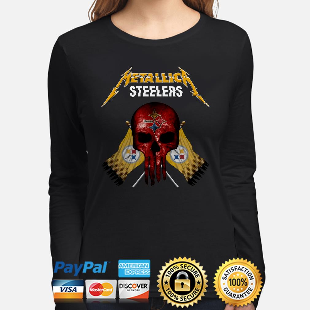 Pittsburgh Steelers Metallica Punisher long sleeve