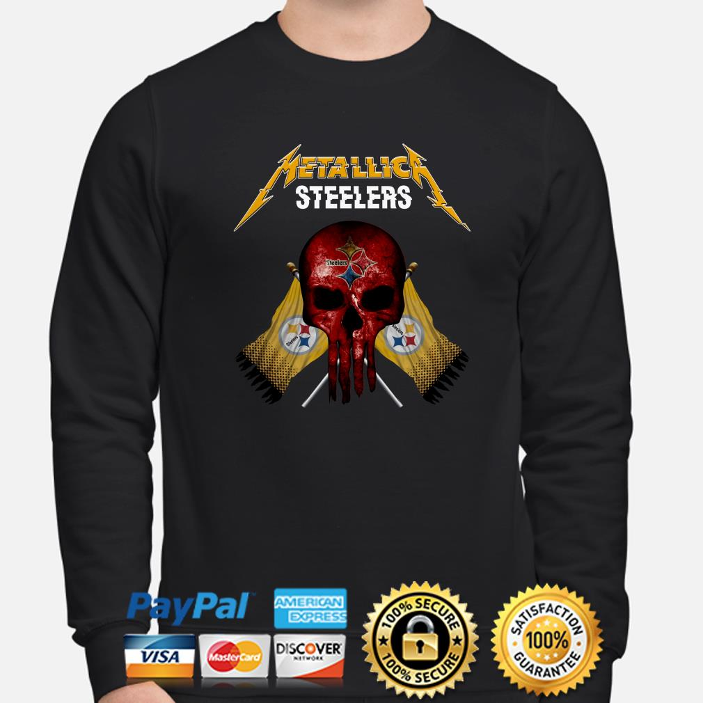 Pittsburgh Steelers Metallica Punisher sweater