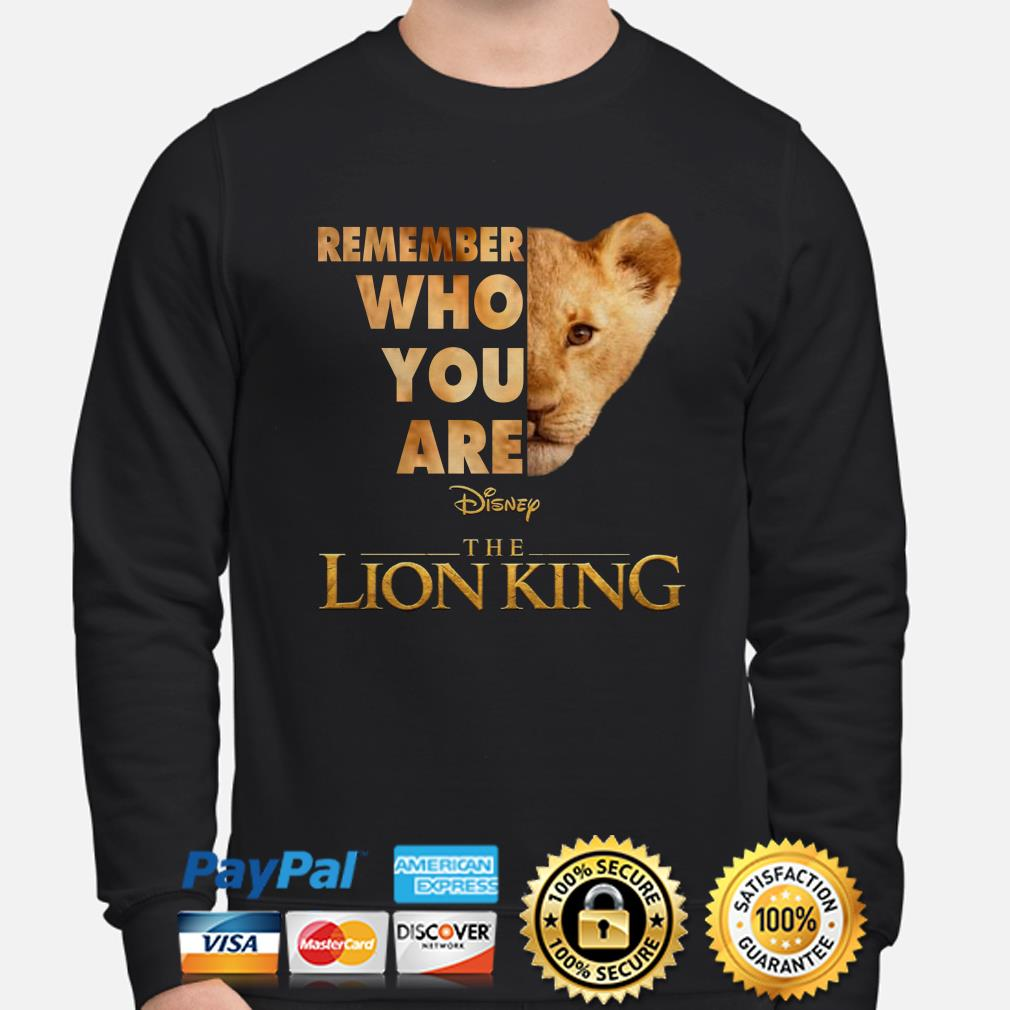 Remember who you are The Lion King Simba sweater