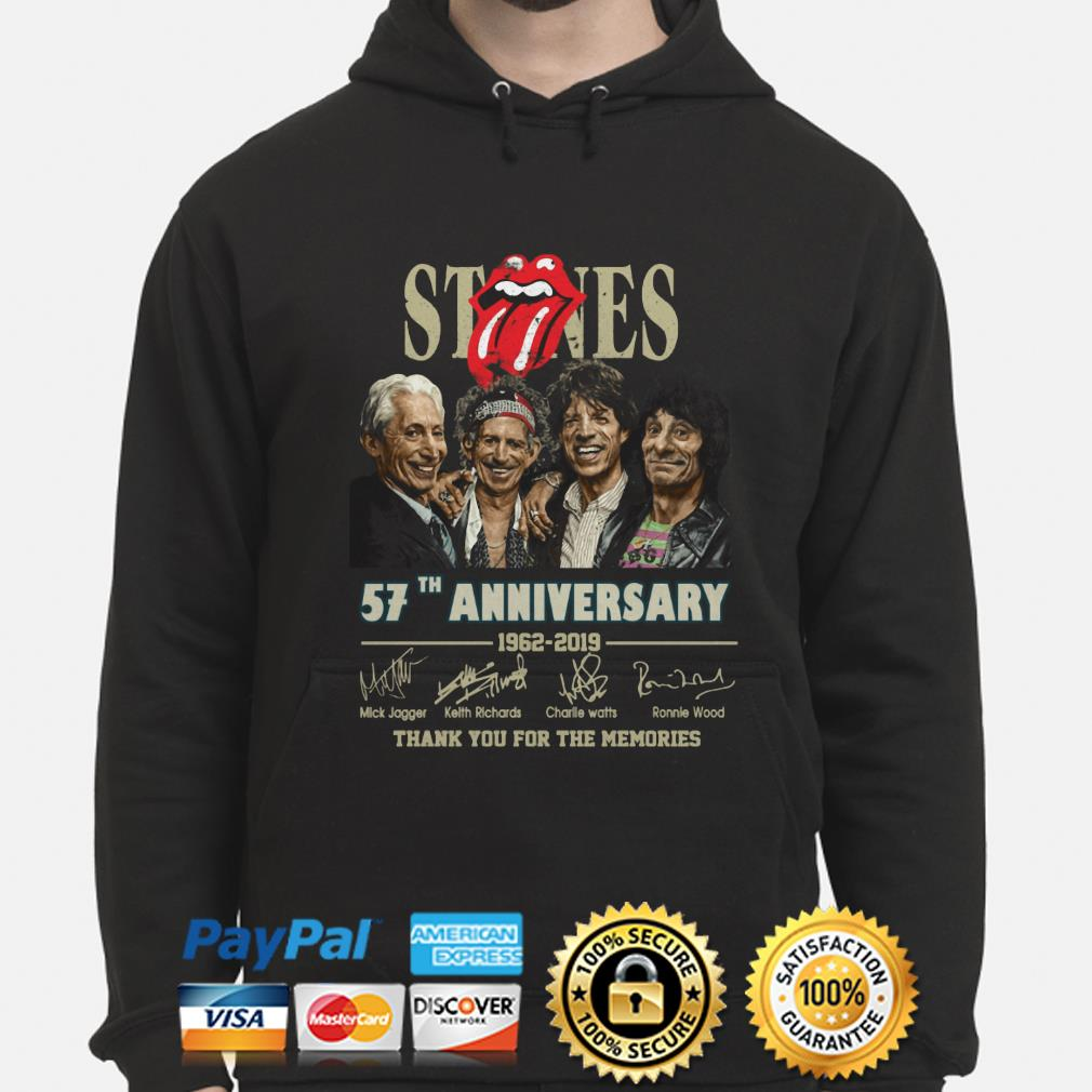 Rolling Stone 57th Anniversary thank you for the memories hoodie