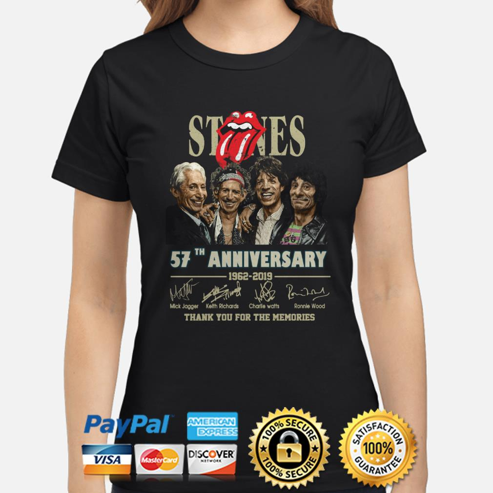 Rolling Stone 57th Anniversary thank you for the memories ladies shirt