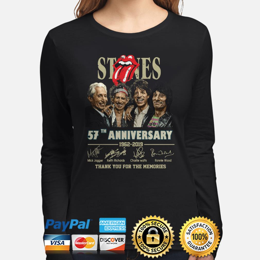 Rolling Stone 57th Anniversary thank you for the memories long sleeve