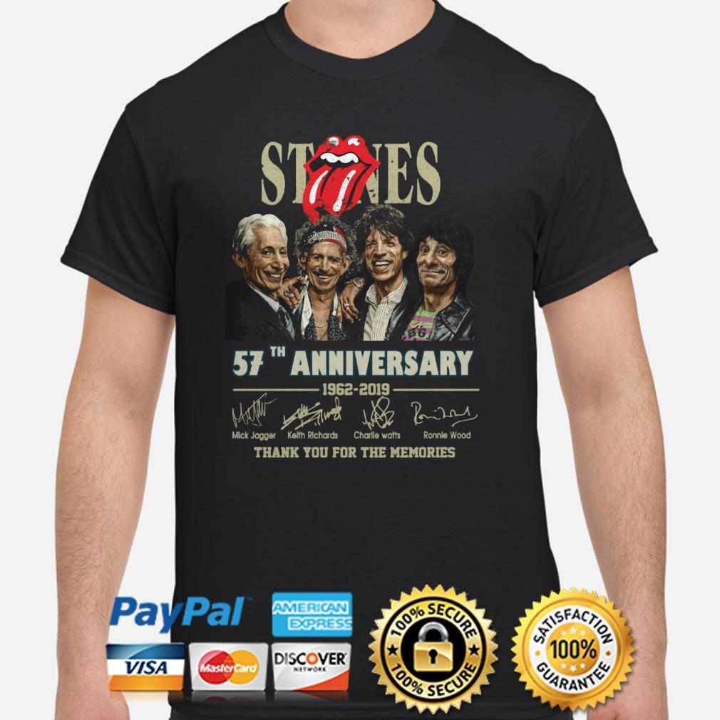 Rolling Stone 57th Anniversary thank you for the memories shirt