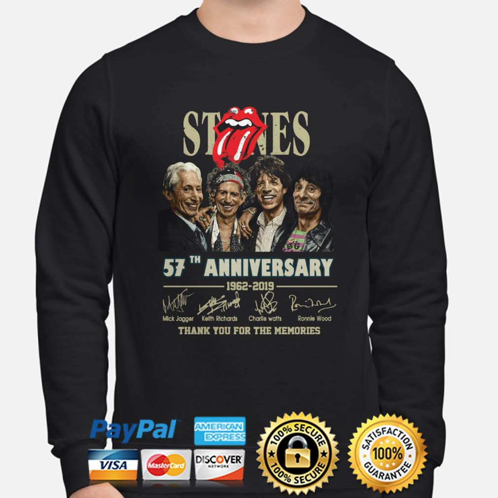 Rolling Stone 57th Anniversary thank you for the memories sweater