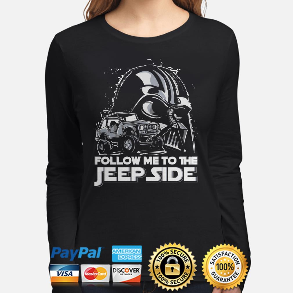 Star Wars Darth Vader follow me to the Jeep side long sleeve