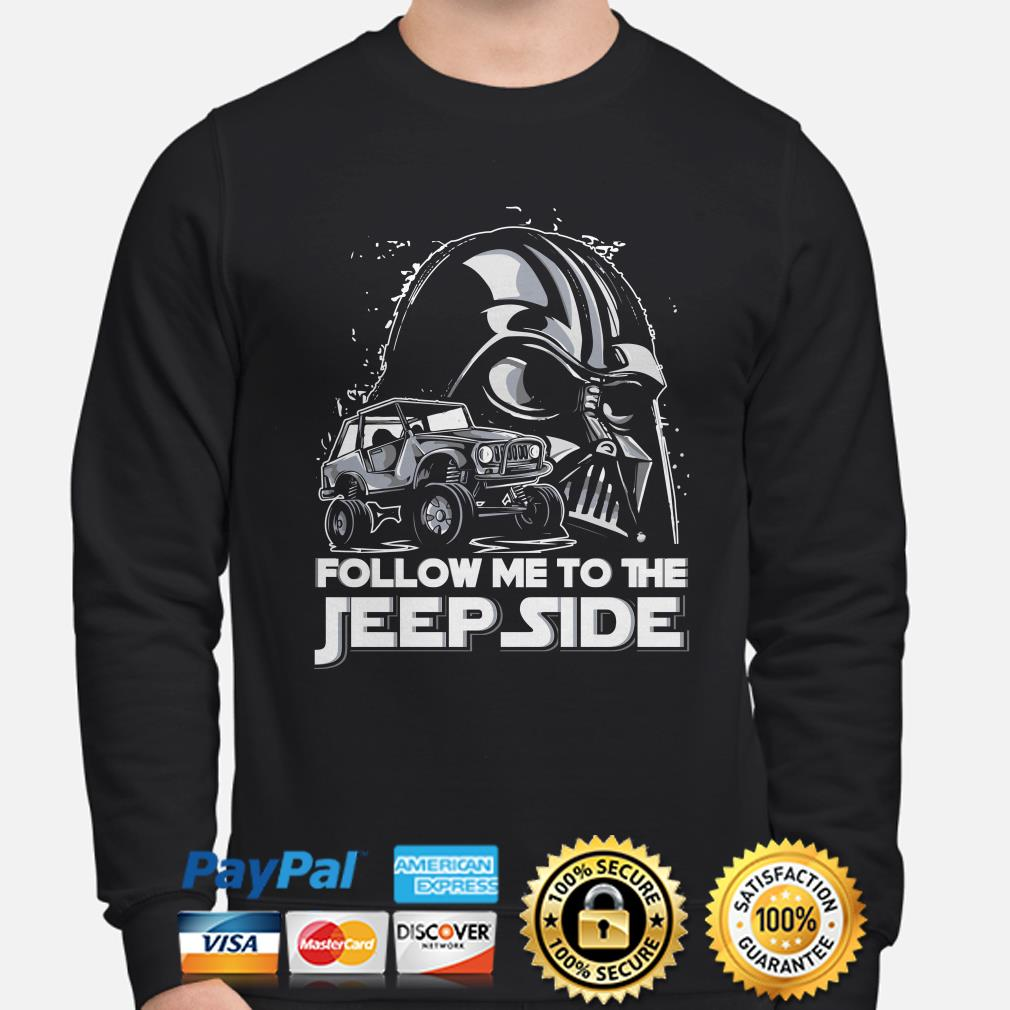 Star Wars Darth Vader follow me to the Jeep side sweater