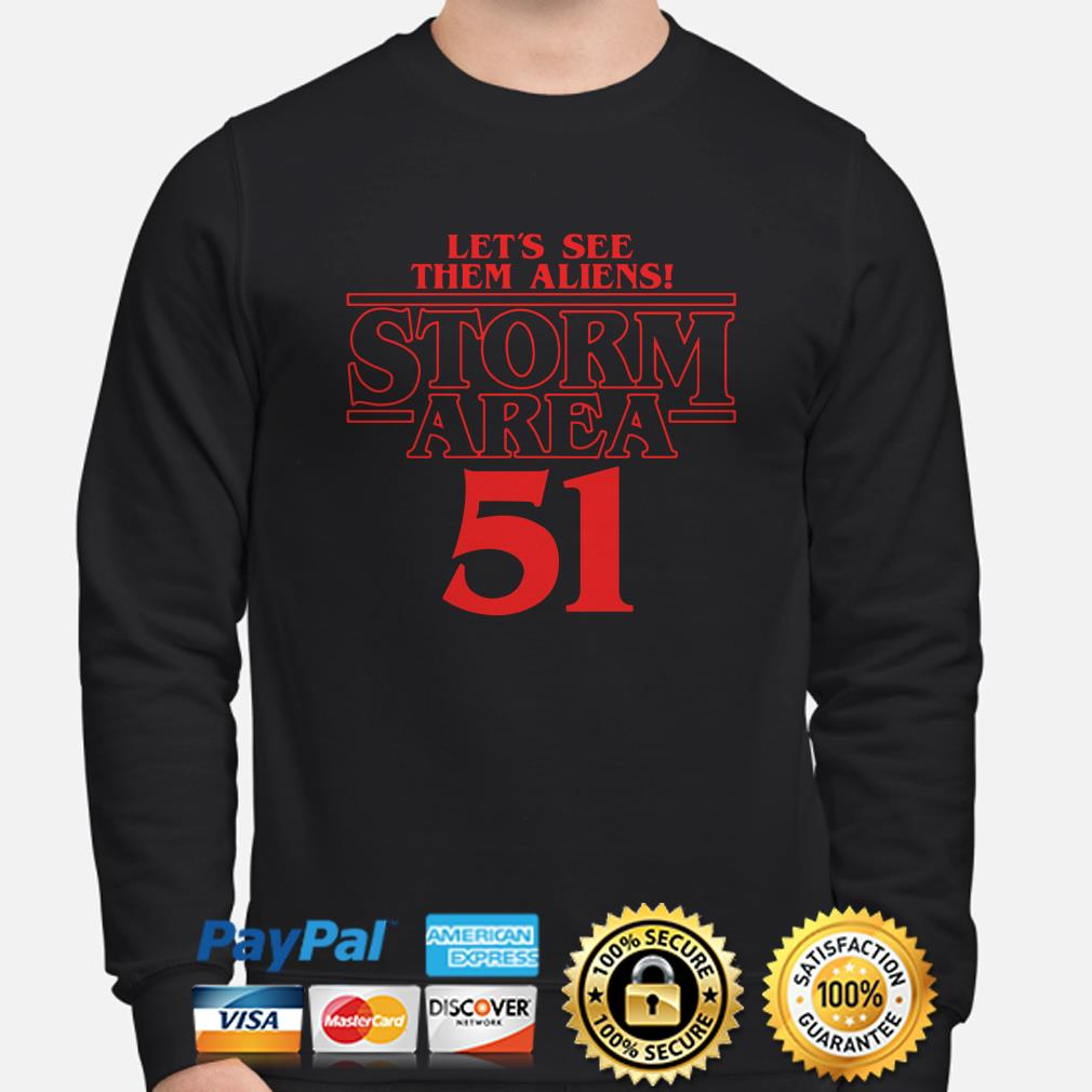 Let's see them aliens Storm area 51 Stranger Things sweater