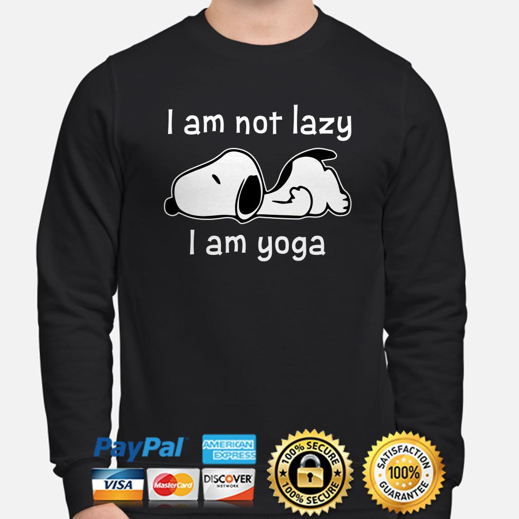 Snoopy I am not lazy I am Yoga sweater