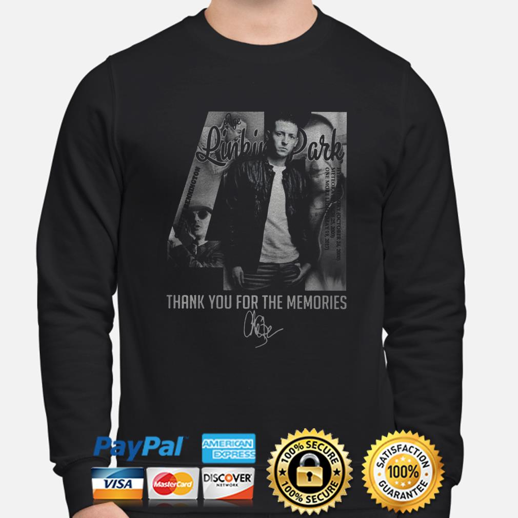 Chester Bennington Linkin Park 41 thank you for the memories sweater