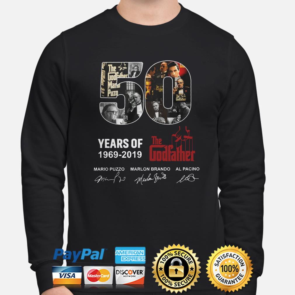 50 years of the Godfather 1969 2019 signatures sweater