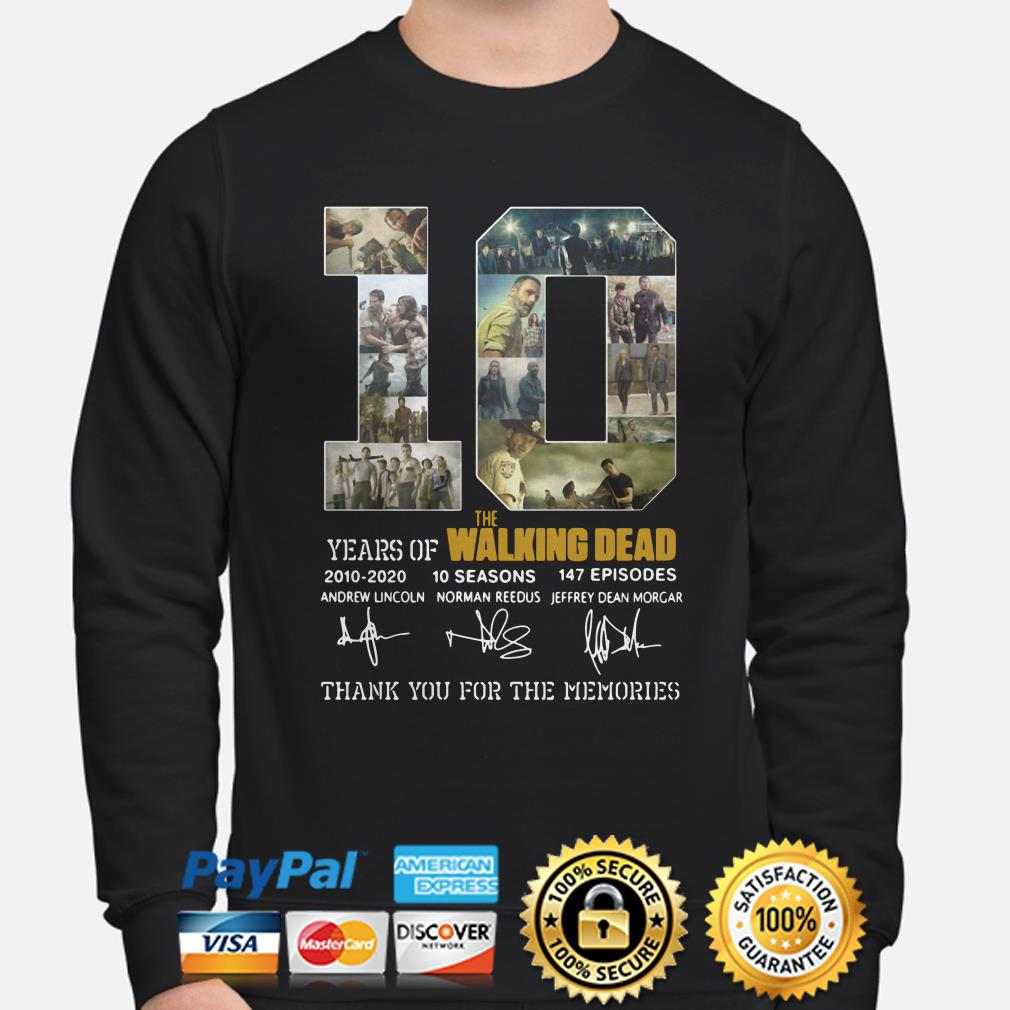 10 years of The Walking Dead thank you for the memories sweater