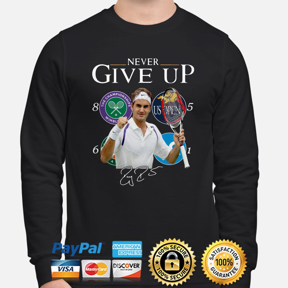 Roger Federer Champions Never Give Up sweater