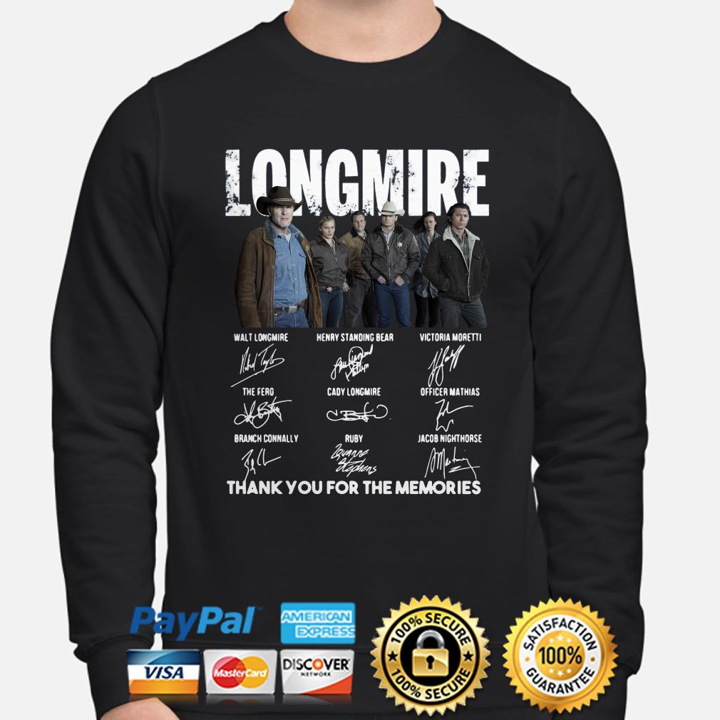 Longmire Character signatures thank you for the memories sweater