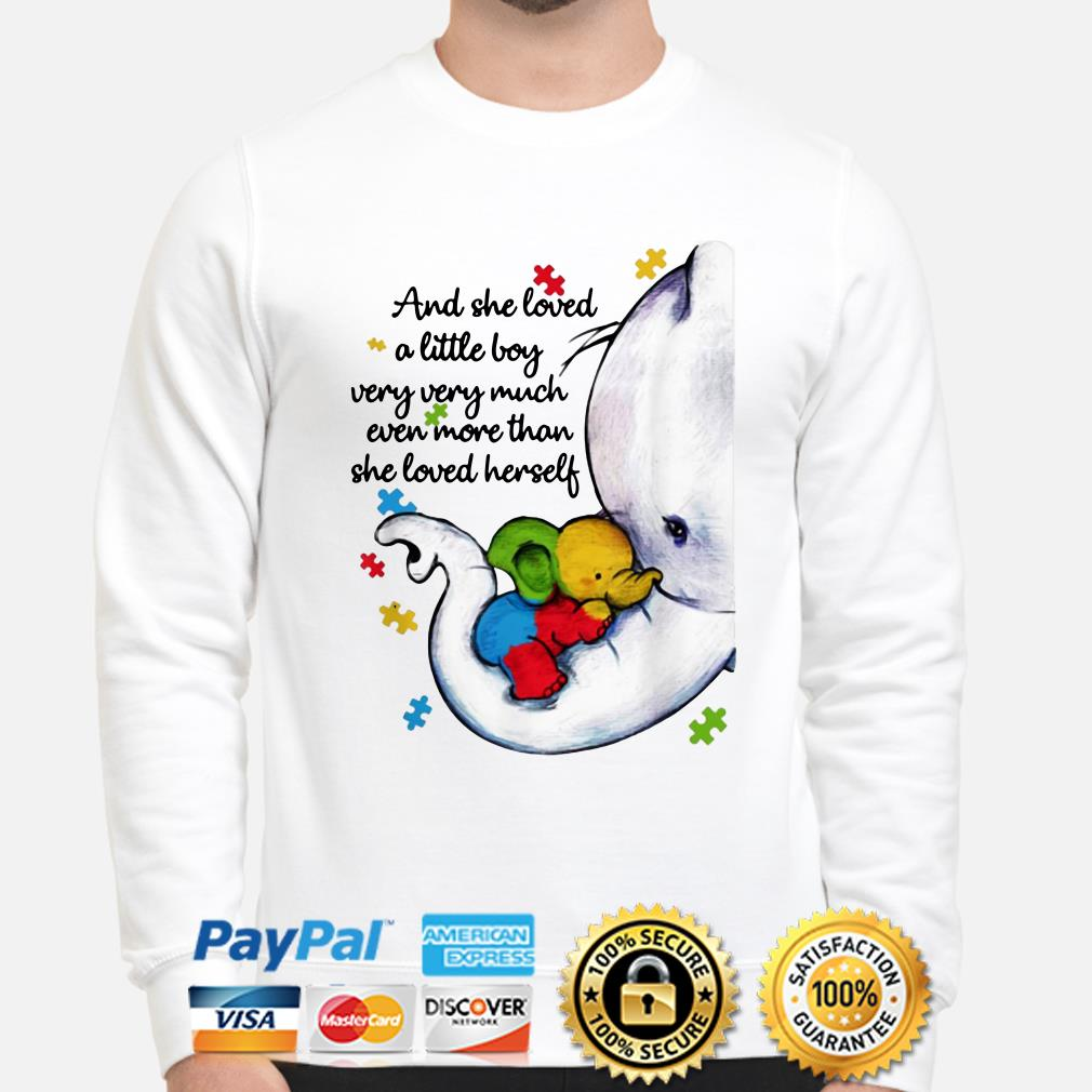 Autism Elephant mom and she loved a little boy very much more than she loved herself sweater