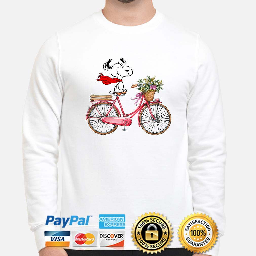 Snoopy riding bicycle sweater