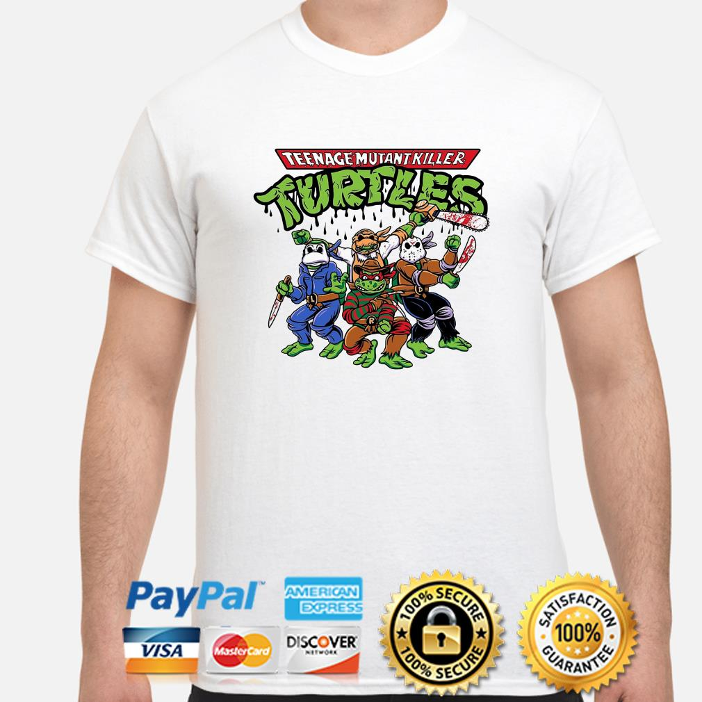 Teenage Mutant Killer Ninja Turtles Horror character shirt