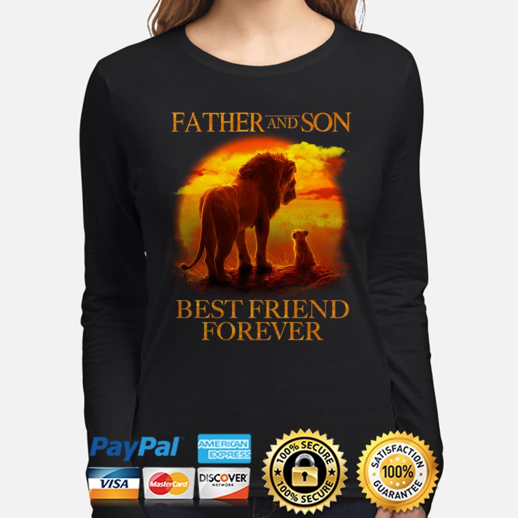 The Lion King Mufasa and Simba Father and son best friend forever long sleeve