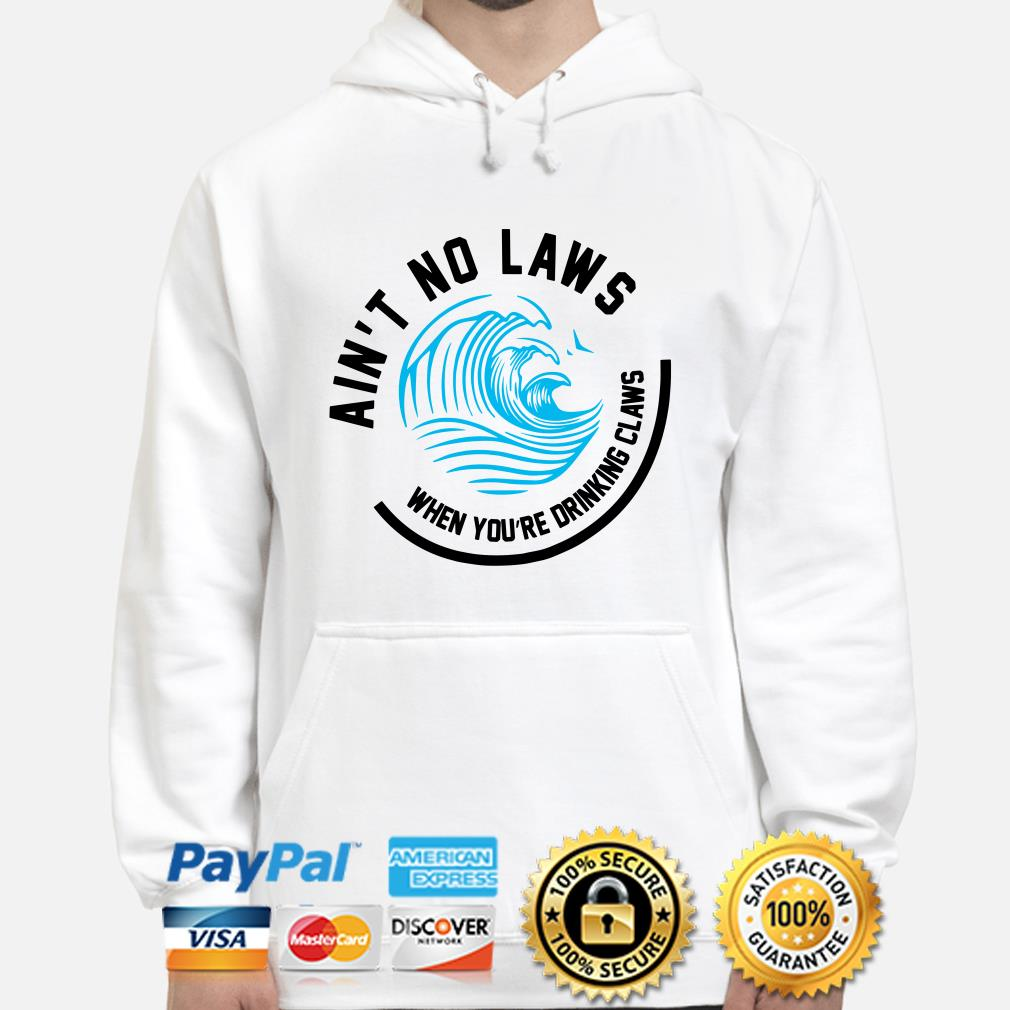 Wave Ain't no laws when you're drinking claws hoodie