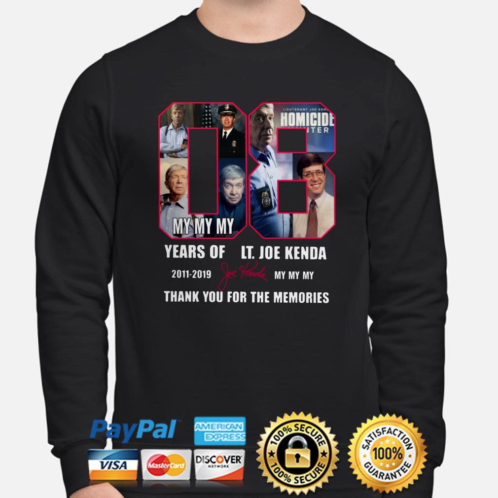 08 years of Lt Hoe Kenda my my my thank you for the memories sweater