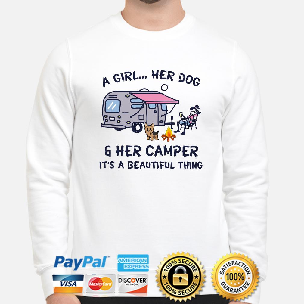 A girl her dog and her camper it's a beautiful thing sweater