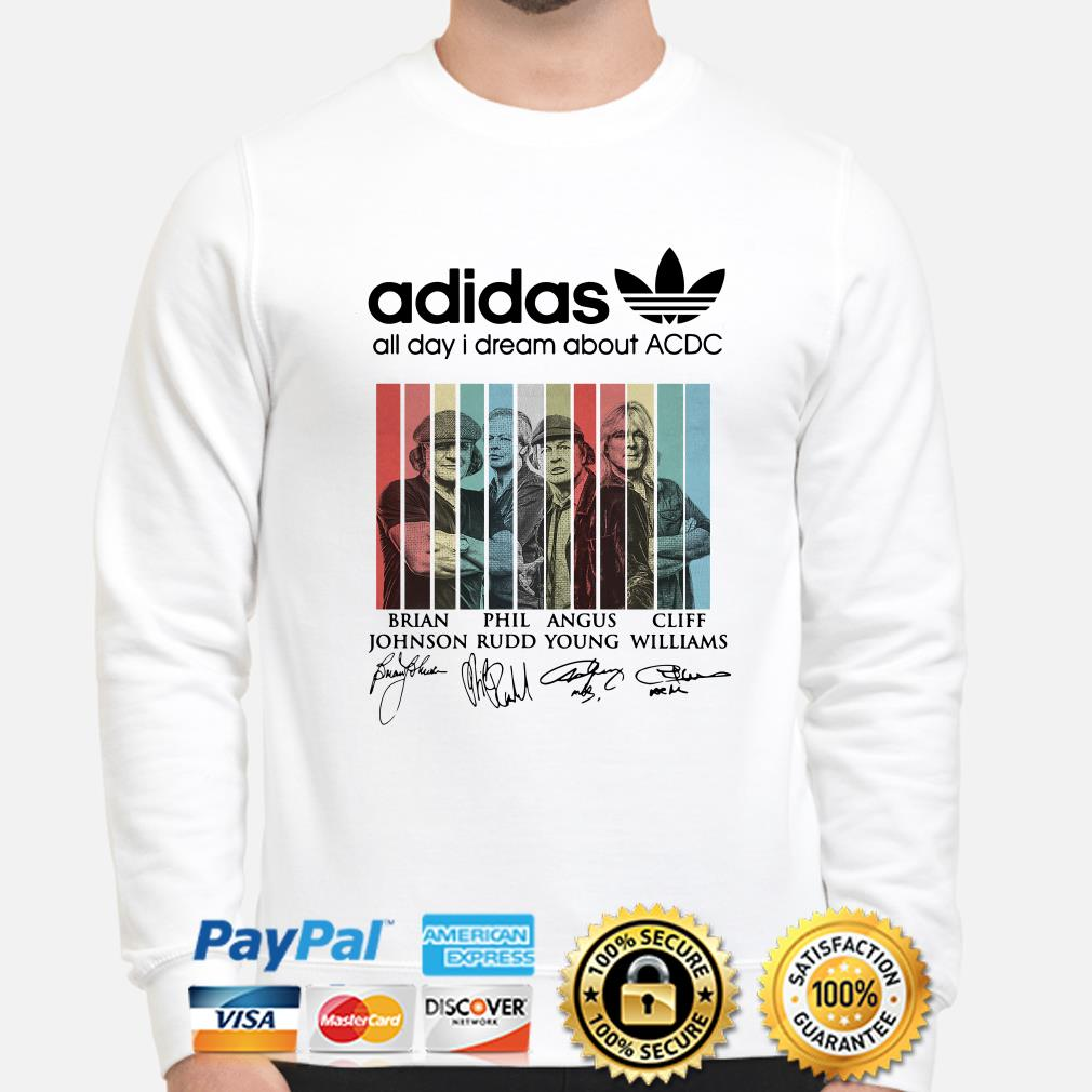 Adidas all day I dream about ACDC signatures sweater
