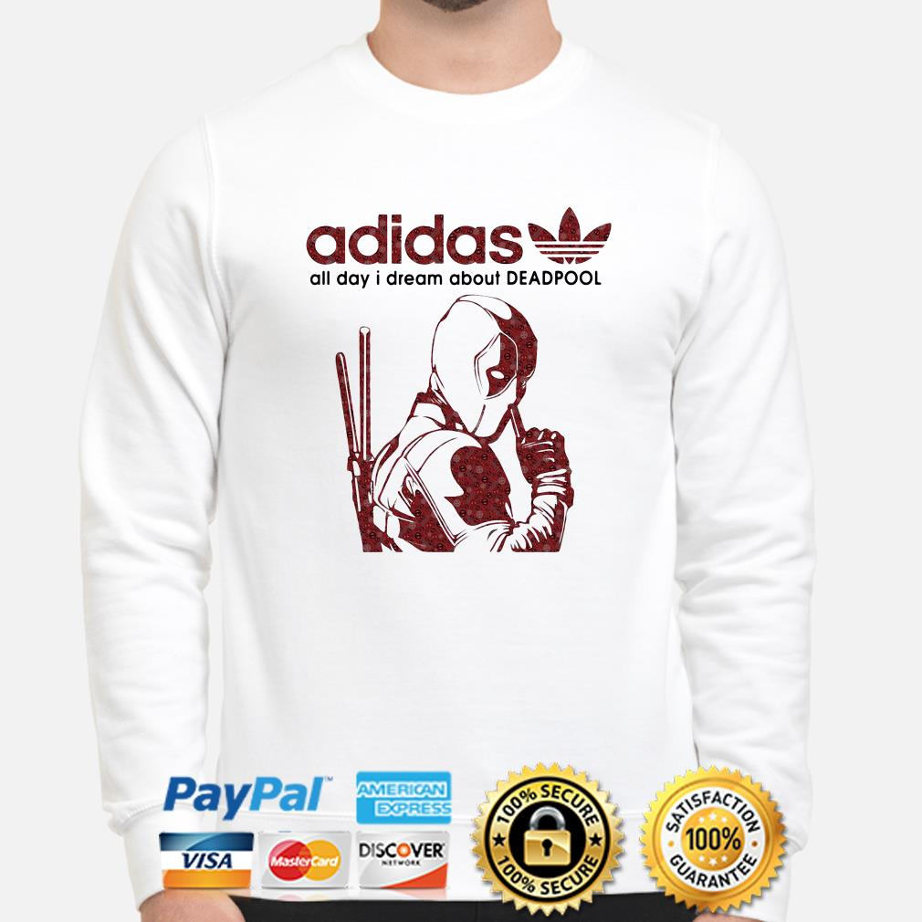 Adidas all day I dream about Deadpool sweater