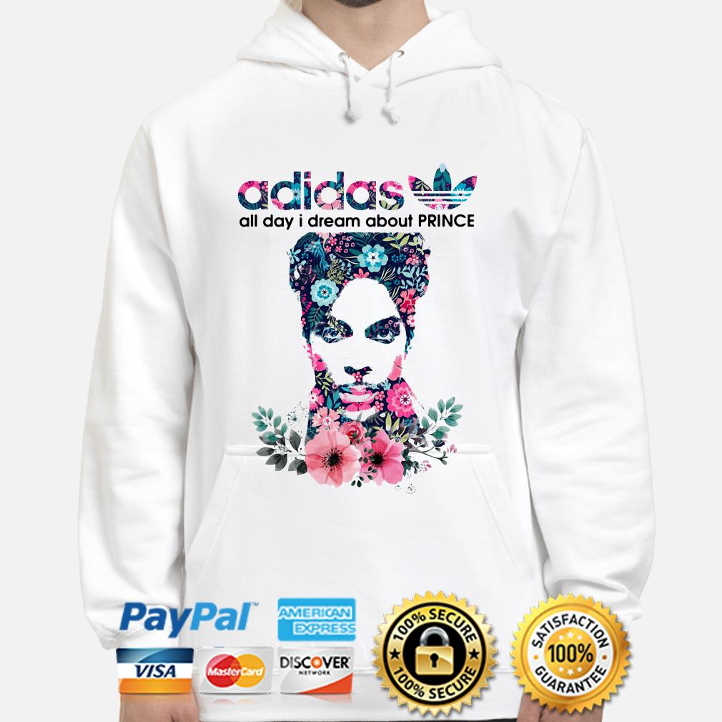 Adidas All day I dream about Prince flowers hoodie