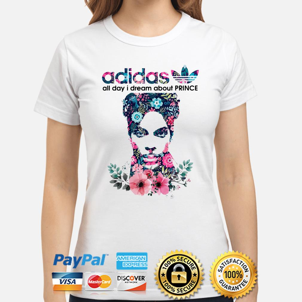 Adidas All day I dream about Prince flowers ladies shirt