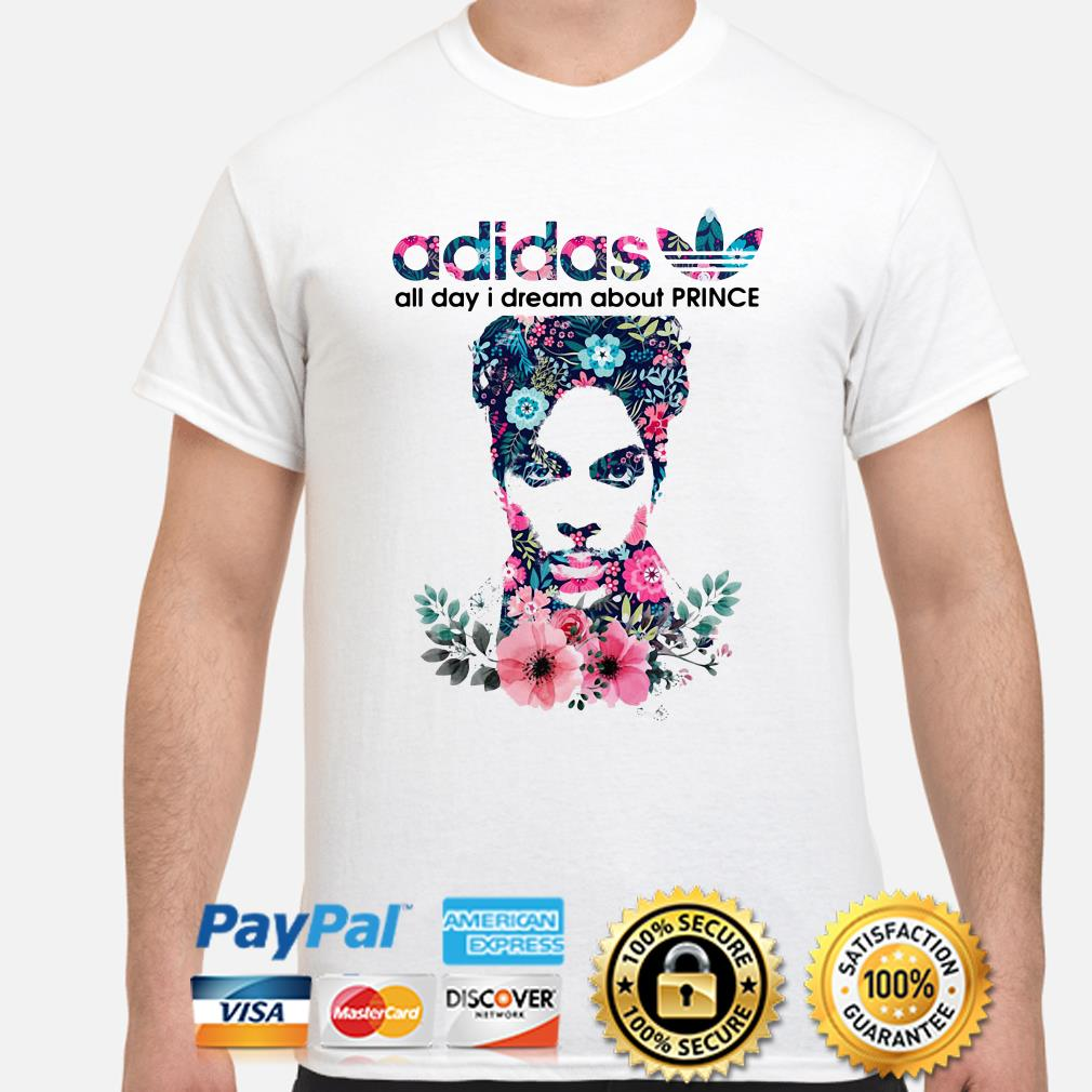 Adidas All day I dream about Prince flowers shirt