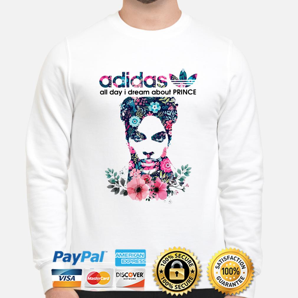 Adidas All day I dream about Prince flowers sweater