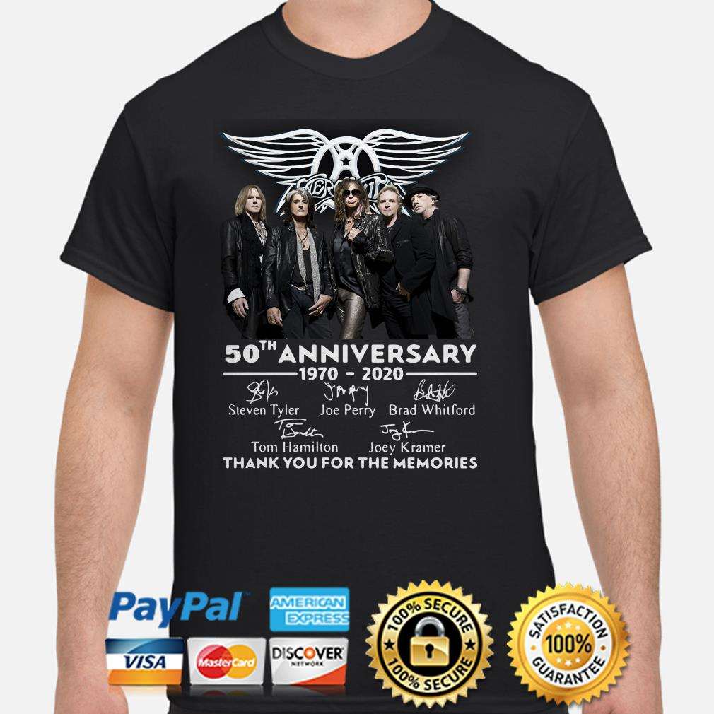 Aerosmith 50th anniversary thank you for the memories shirt