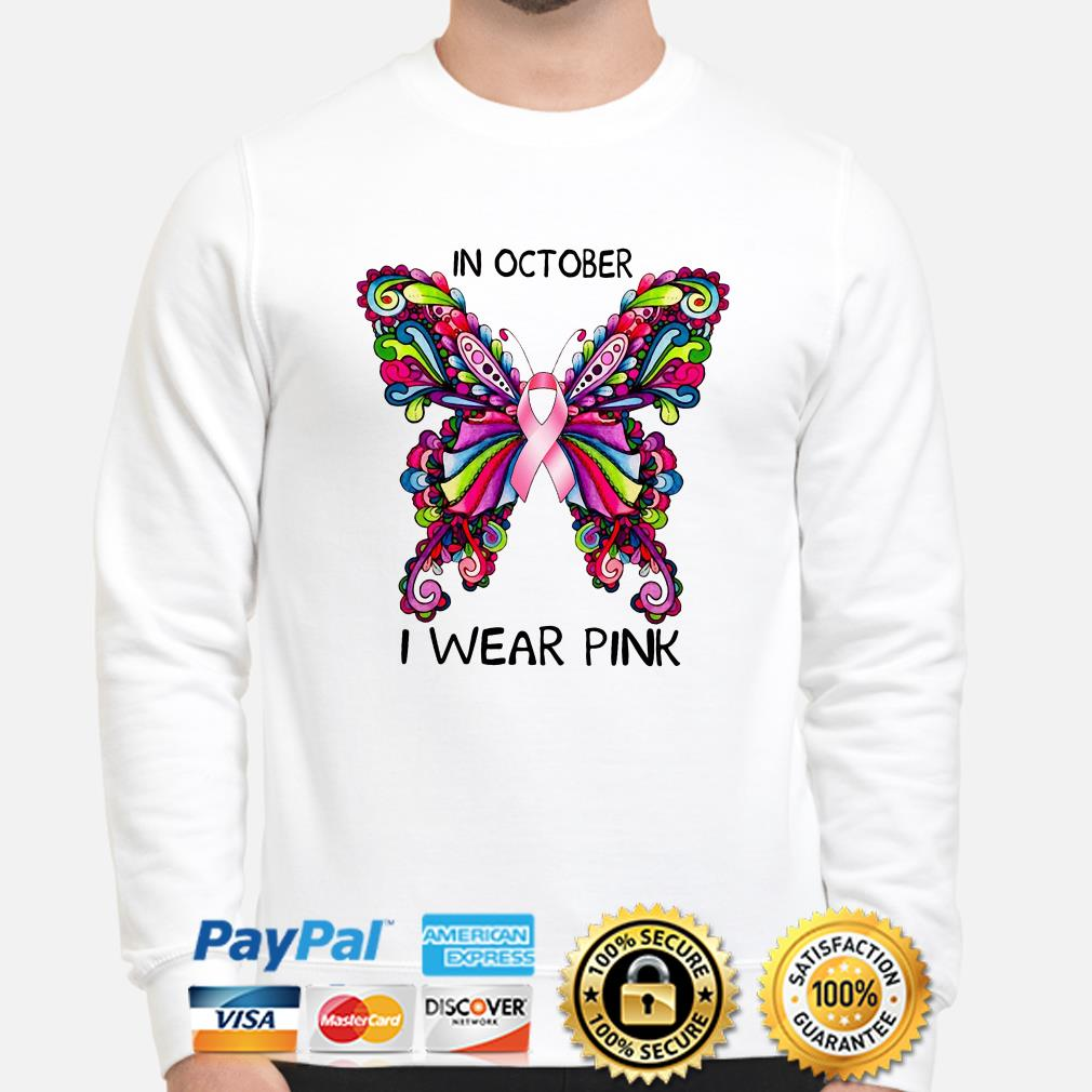 Breast cancer awareness in October I wear pink sweater