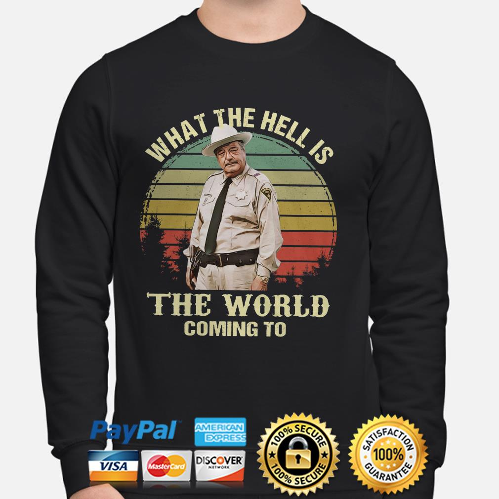 Buford T. Justice what the hell is the world coming to vintage sweater
