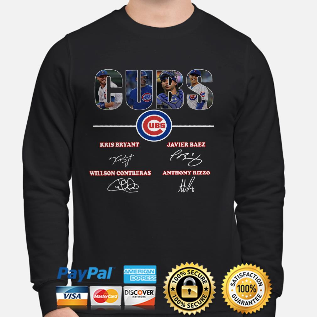 Chicago Cubs Kris Bryant Javier Baez Willson Contreras Anthony Rizzo sweater