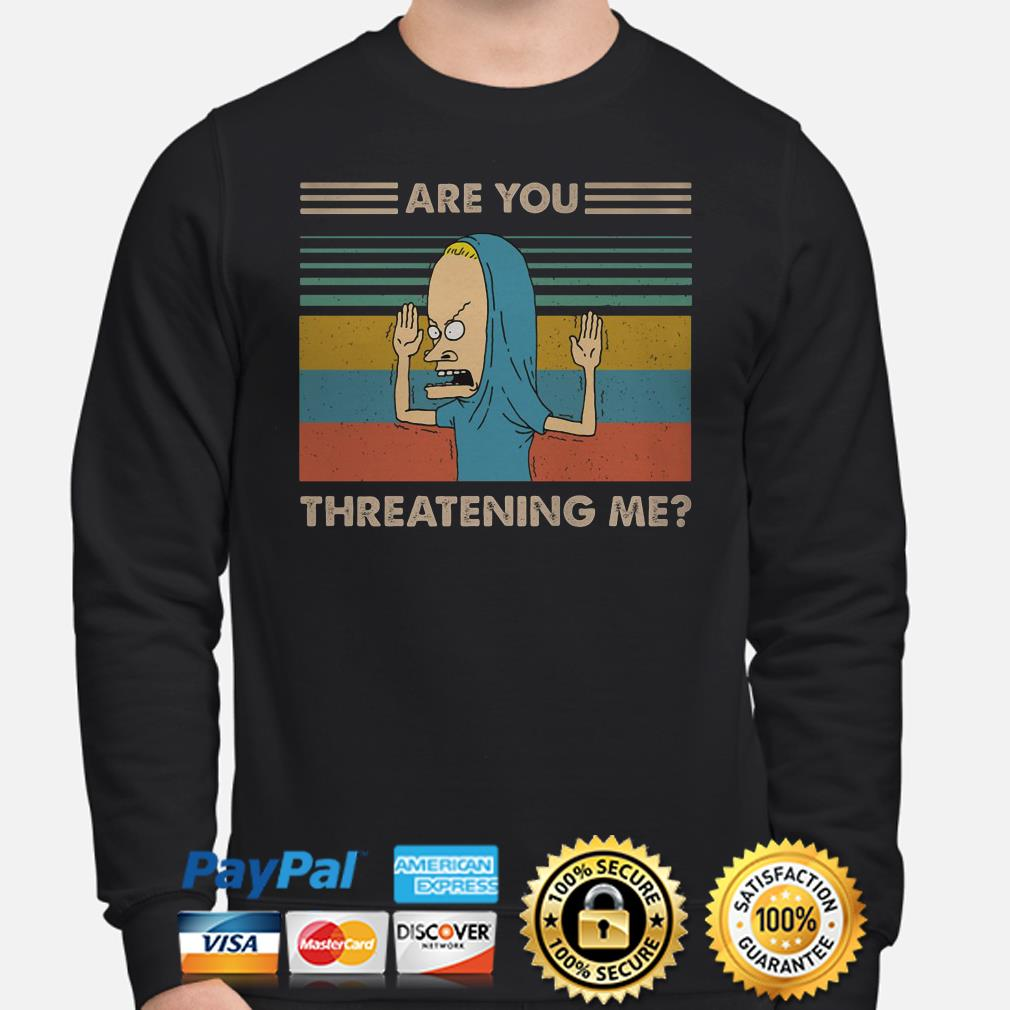 Cornholio are you threatening me vintage sweater