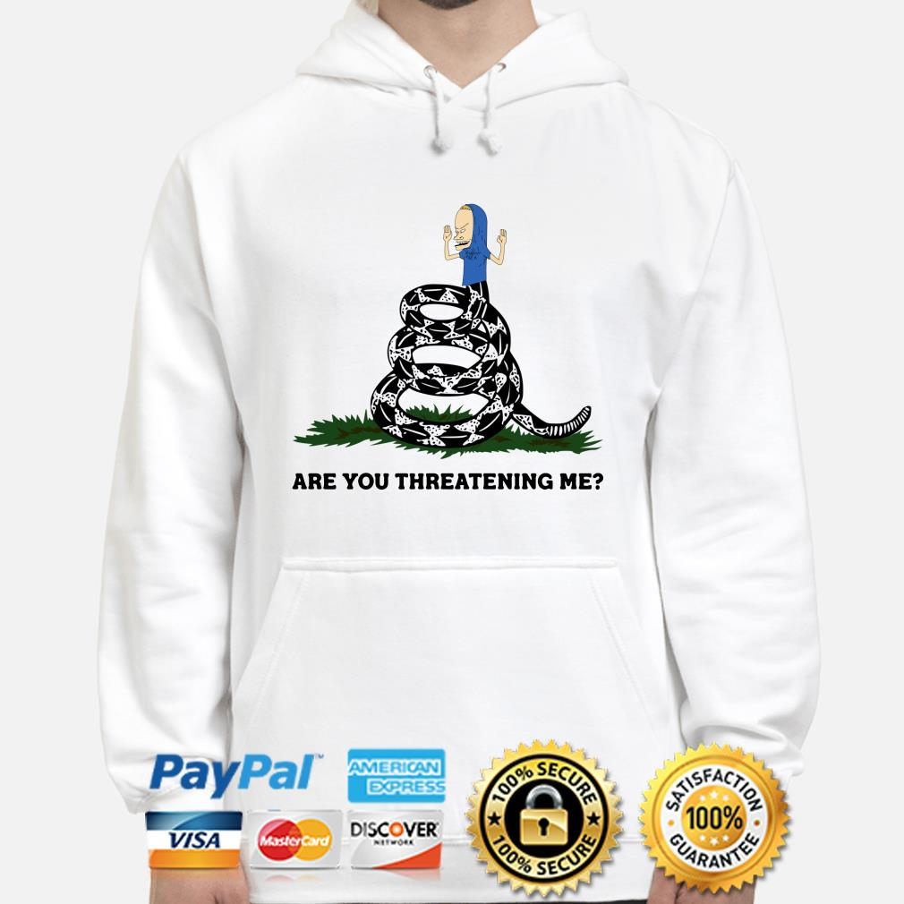 Cornholio Gadsden Flag Snake are you threatening me hoodie