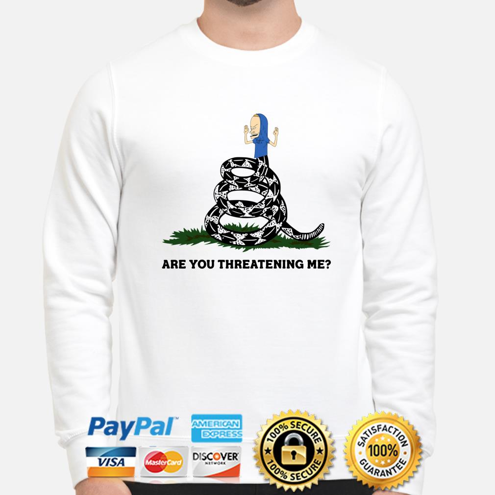 Cornholio Gadsden Flag Snake are you threatening me sweater