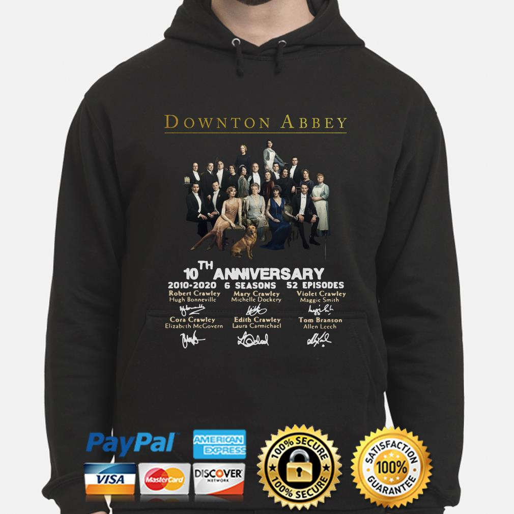 Downton Abbey 10th anniversary signatures hoodie
