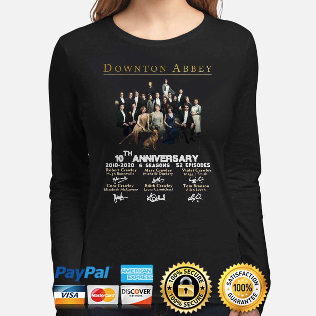 Downton Abbey 10th anniversary signatures long sleeve