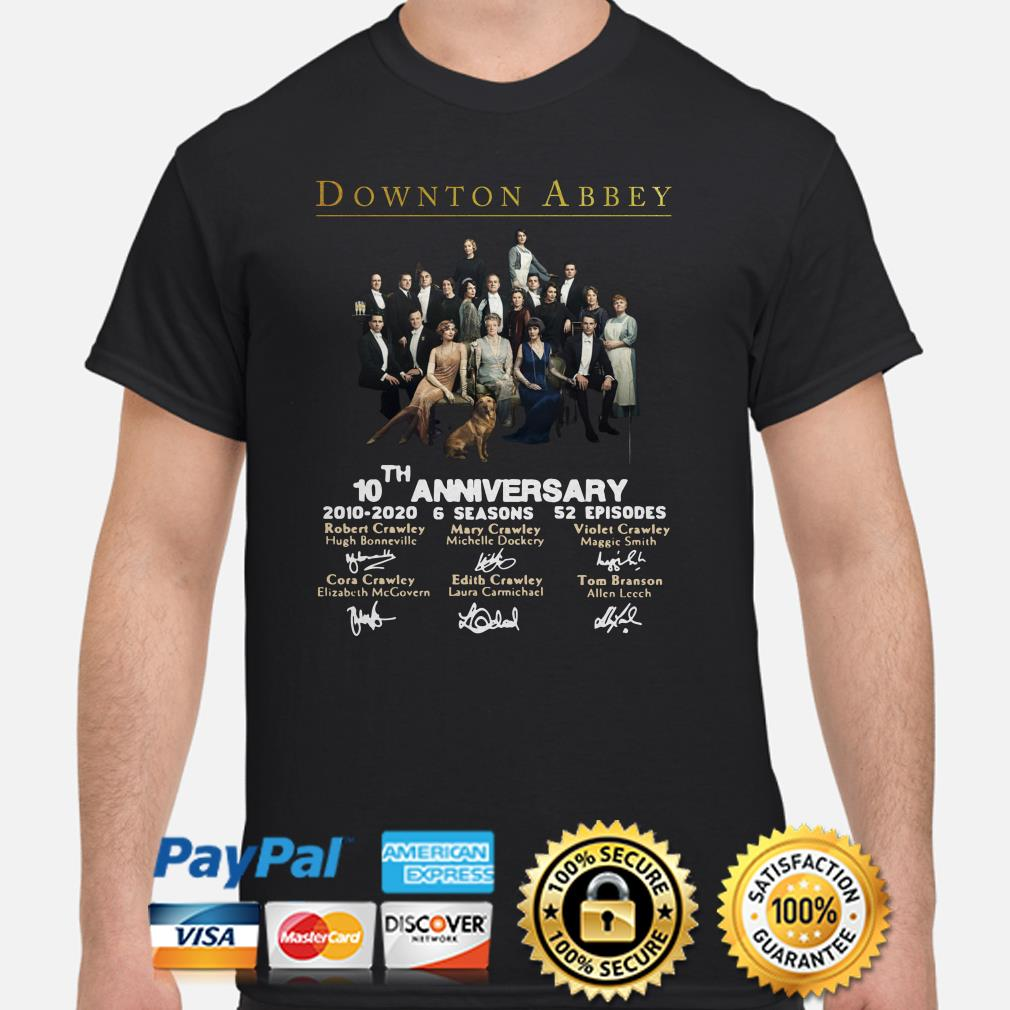 Downton Abbey 10th anniversary signatures shirt
