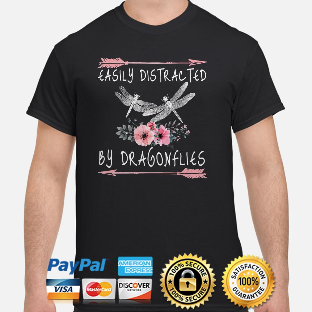 Easily Distracted by Dragonflies Flowers shirt